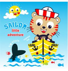 sailor adventure cartoon vector image