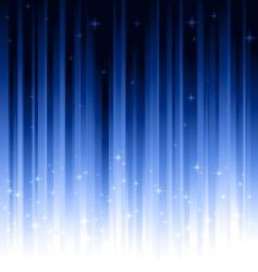 Stars blue vertically striped background vector