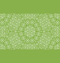 vintage swirl greenery seamless pattern background vector image