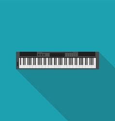 Electronic piano music instrument flat design vector