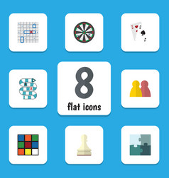 flat icon play set of arrow people ace and other vector image vector image