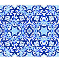 kaleidoscopic seamless pattern blue vector image vector image