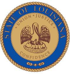 Louisiana Seal vector image
