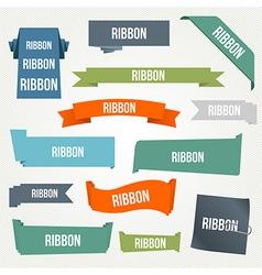 Ribbon and banner set vector image