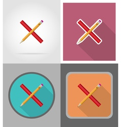 School education flat icons 01 vector