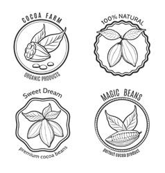 Cacao logo set vector image vector image