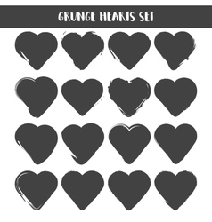 Set of Hearts Grunge stamps collection love vector image vector image