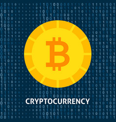 crypto currency bitcoin concept vector image