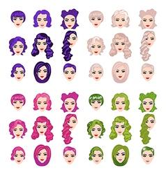 Female punk hair vector image