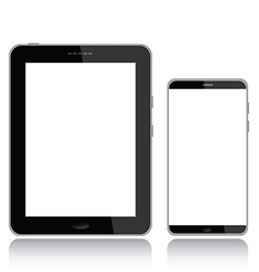 tablet pc and smart phone vector image