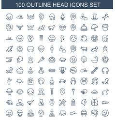 100 head icons vector