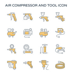 Air compressor icon vector