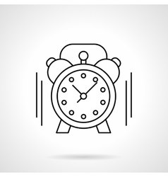Alarm clock flat line icon vector