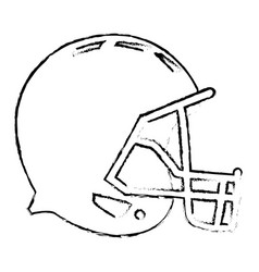 american footbal helmet equipment protection vector image