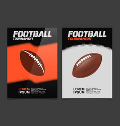 American football banner design vector