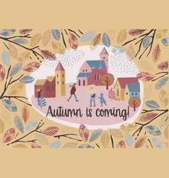 autumn design temlate vector image