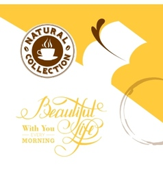 background with stains coffee vector image