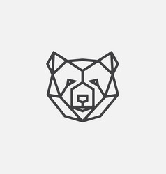 bear geometric logo icon bear head icon vector image