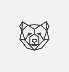 bear geometric logo icon head icon vector image