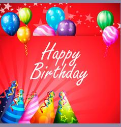 birthday card happy birthday vector image