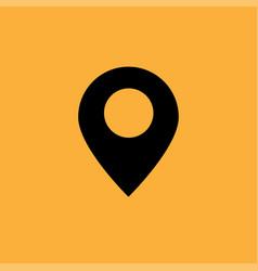 Black google map icon vector