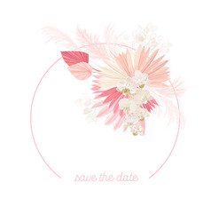 boho floral wedding frame watercolor vector image