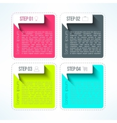 bright infographic template in modern flat vector image