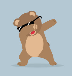 brown bear doing dabbing vector image