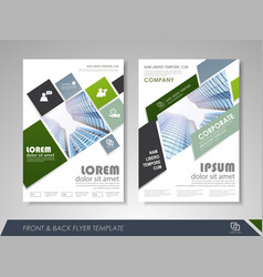 business brochure annual report vector image