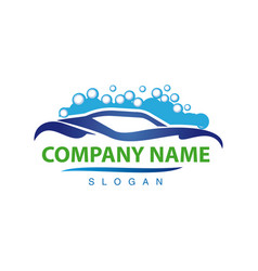 carwash logotype vector image