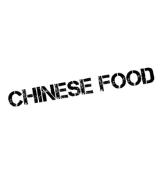 Chinese Food rubber stamp vector