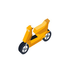 city scooter isometric 3d element vector image