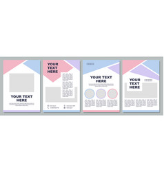 Corporate introduction brochure template vector