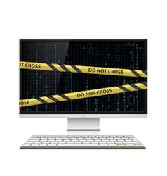 cybercrime computer monitor vector image