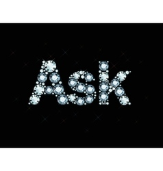 Diamond word ask vector