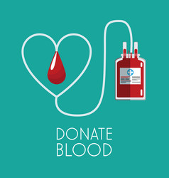 Donate blood healthy care vector