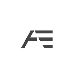 E a letter logo lettermark ea monogram typeface vector