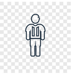 football player concept linear icon isolated on vector image