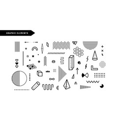 geometric graphic elements set geometrical vector image