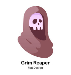 grim reaper flat icon vector image