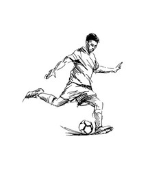 hand sketch of soccer vector image