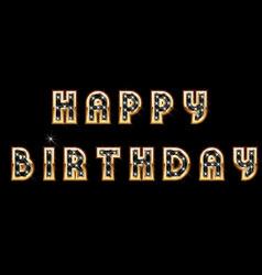 happy birthday card design template vector image