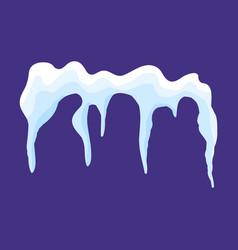 Icicles snow cap drift symbol icon design vector