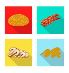 Isolated object of burger and sandwich symbol vector