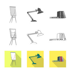 Isolated object of furniture and work symbol vector