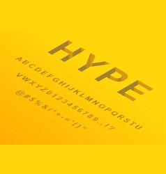 isometric 3d font design alphabet letters vector image