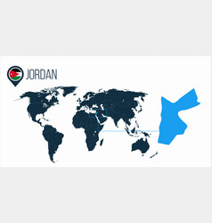 Jordan location on the world map for infographics vector
