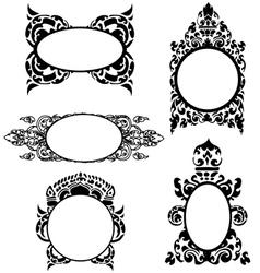 Kambodga Pattern frames vector image