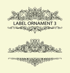 Label ornament 3 vector
