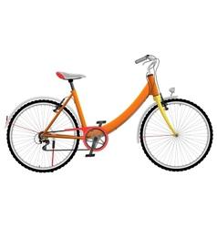 Ladies orange urban sports bike vector